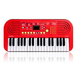 M SANMERSEN Kids Piano Keyboard, 37 Keys Multifunction Portable Keyboard Piano Early Learning Ed ...