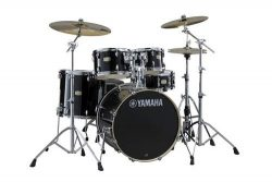 Yamaha Stage Custom Birch 5pc Drum Shell Pack – 22″ Kick, Raven Black