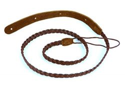 Pete Schmidt Handcrafted Fabric Mandolin Strap – Braided – Brown
