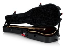 Gator Cases Molded Flight Case For Acoustic Dreadnought Guitars With TSA Approved Locking Latch; ...