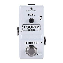 ammoon Electric Guitar Effect Pedal Looper True Bypass Unlimited Overdubs 10 Minutes Recording w ...