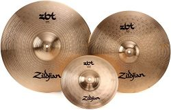 Zildjian ZBT Crash Cymbal Set – 16″& 18″ Crashes, with Free 10″ Splash