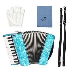 IRIN 22-Key 8 Bass Piano Accordion Educational Musical Instrument Rhythm Toy for Beginners Stude ...