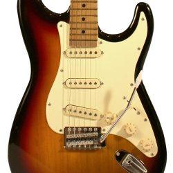 Sawtooth ST-ES-SBVC-KIT-3 Sunburst Electric Guitar with Vintage White Pickguard – Includes ...