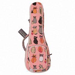 "MUSIC FIRST cotton""MISS CAT"" ukulele case ukulele bag, Double Shoulder Straps, New A ..."