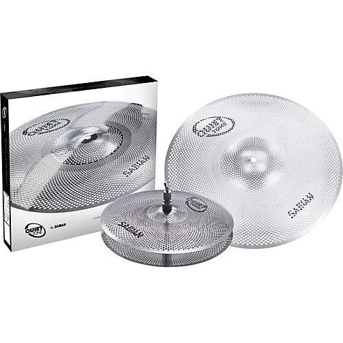 Sabian QTPC501 Quiet Tone Practice Cymbal Set -Silver- 13″/18″ (QTPC501)