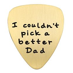 Fathers Day Gift Mens I couldn't Pick a Better Dad Guitar Pick Custom Gift for Daddy Papa  ...
