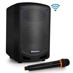 Pyle Bluetooth Karaoke PA Speaker – Indoor / Outdoor Portable Sound System with Wireless M ...