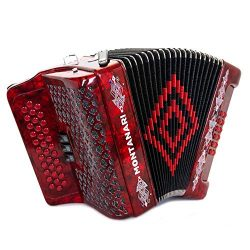 Acordeon Montanari 3412 3S Fa Rojo FBE Accordion
