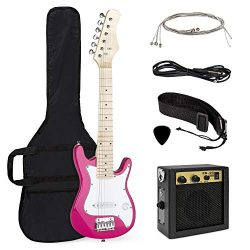 Best Choice Products 30in Kids 6-String Electric Guitar Beginner Starter Kit w/ 5W Amplifier, St ...