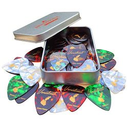Vencetmat guitar picks 40 pack, 4 gauges, Include thin, medium, extra & heavy, For acoustic  ...