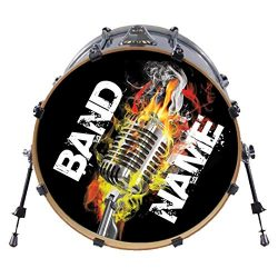 Custom Bass Drum Head DECAL – Many Sizes – Use our stock Designs, or Send us yours.  ...