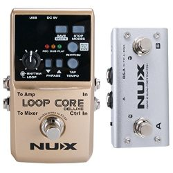 NUX Loop Core Deluxe Guitar Looper 8 hours Loop Time,24-bit Audio,Automatic Tempo Detection with ...