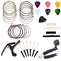 Borya Guitar Accessories Kit All-in 1 Guitar Tool Changing Kit Including Guitar Picks, Capo, Aco ...