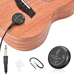OTraki Acoustic Guitar Pickup Microphone Transducer Picks Self Adhesive Volume Control Piezo Pic ...