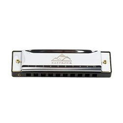 EastRock Blues Harmonica Mouth Organ Harp 10 Hole C Key with Case, Diatonic Harmonica for Profes ...