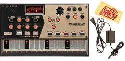 Korg Volca Drum Digital Percussion Synthesizer Bundle with Power Supply and Austin Bazaar Polish ...