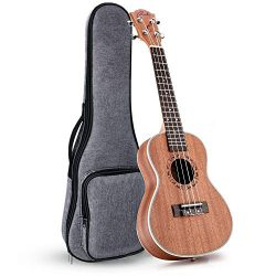 Ranch Left handed Concert Ukulele 23 inch Professional Wooden ukelele Instrument with Padded Gig Bag