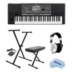 Korg Professional 61-Key Arranger Keyboard w/Built-in Speakers and TouchView Color TFT Display & ...