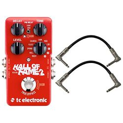 TC Electronic 960661001 Hall of Fame 2 Electric Guitar Reverb Effects Pedal with a Pair of Pedal ...