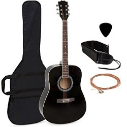 Best Choice Products 41in Full Size All-Wood Acoustic Guitar Starter Kit w/Case, Pick, Strap, Ex ...
