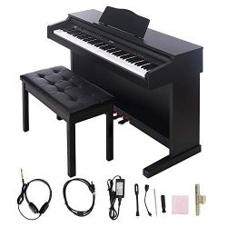 Digital Piano,Les Ailes de la Voix 88 Key Electric Piano Portable for Beginner Adults with Bench ...