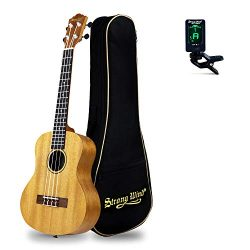 26in Tenor Ukulele Start Kit for Adults, Strong Wind Mahogany Body Hawaiian Ukeleles for Beginne ...