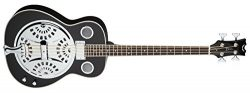 Dean RES BASS CBK Resonator Acoustic/Electric Bass, Classic Black