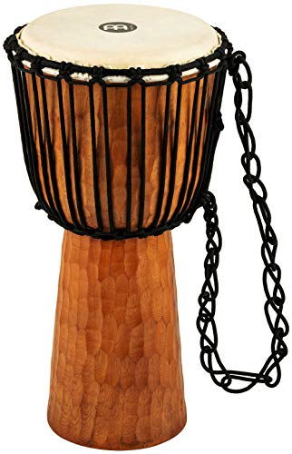Meinl Djembe with Mahogany Wood – NOT MADE IN CHINA – 10″ Medium Size Rope Tun ...