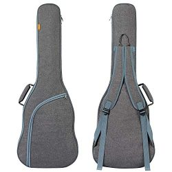 CAHAYA Electric Guitar Bag Padded Electric Guitar Gig Bag Case 0.35in Padding Dual Adjustable Sh ...