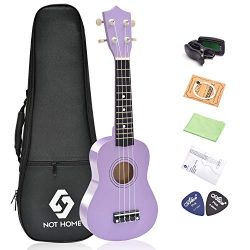 Soprano Ukulele Beginner Pack, 21 Inch Basswood kids Ukuleles Starter Kit with Gig Bag Digital T ...