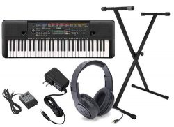 Yamaha PSR-E263 Ultra Premium Keyboard Package with Headphones,Stand,Sustain Pedal,and Power Supply