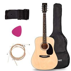 Acoustic Folk Guitar, Safeplus Multi-color Beginners 6 Strings Guitar with Guitar Case, Strap, G ...