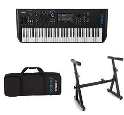 Yamaha MODX6 61-Key Semi-Weighted Action Keyboard Synthesizer with Yamaha MODX6 Soft Case and He ...