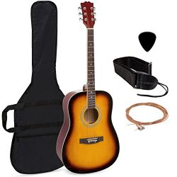 Best Choice Products 41in Full Size All-Wood Acoustic Guitar Starter Kit with Case, Pick, Should ...