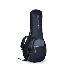 Crossrock A-Style Mandolin Gig Bag with 10mm Padding, Backpack Straps, Black/Grey (CRSG106MABG)