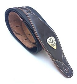 Legato Guitar Strap 3 Inches Wide Double Padded Soft Leather