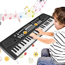 WOSTOO Piano for Kids, 49 Keys Multi-Function Electronic Kids Piano Keyboard Educational Toy, Re ...