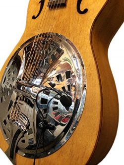 The Feather Tricone Round Neck Resonator Guitar Pickup with Flexible Micro-Gooseneck by Myers Pi ...