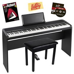 Korg B1 Digital Piano Bundle with Korg STB1 Stand, Sustain Pedal, Furniture-Style Bench, Instruc ...