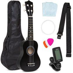 Best Choice Products Basswood Ukulele Starter Kit with Waterproof Nylon Carrying Case, Strap, Pi ...