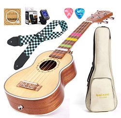 Balnna 23 Professional Ukulele Maple Traditional Learn to Play,Color String with Soft Case Gig B ...