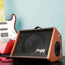 Electric Guitar Amplifier, Mugig Guitar Amplifier 25W, with 3-Band EQ, DSP Effect, Two Seperate  ...