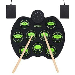 ammoon Electronic Drum Set, Roll Up Drum Kit 9 Drum Pads 2 Foot Pedals for Kids Children Beginne ...