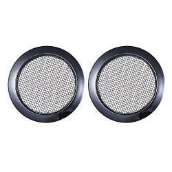 Festnight 2pcs Black Screened Sound Hole Inserts for Dobro Resonator Guitar Cigar Box Guitars