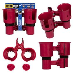 ROBOCUP, RED, Updated Version,Best Cup Holder for Drinks, Fishing Rod/Pole, Boat, Beach Chair/Go ...