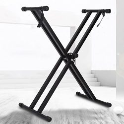 X Type Keyboard Stand, Portable Piano Keyboard Stand Double Braced Music Electric Organ Holder A ...