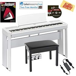 Yamaha P-515 88-Key Digital Piano – White Bundle with Yamaha L-515 Stand, LP-1 Pedal, Furn ...