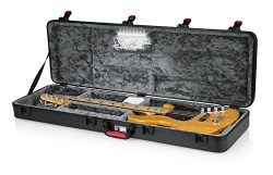 Gator Cases Molded Flight Case for Bass Guitar with Internal LED Lighting and TSA Approved Locki ...
