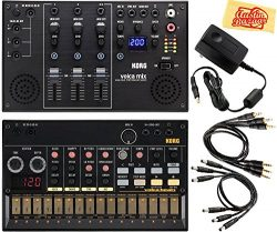 Korg Volca Beats Analogue Drum Machine Bundle with Korg Volca Mix and Austin Bazaar Polishing Cloth
